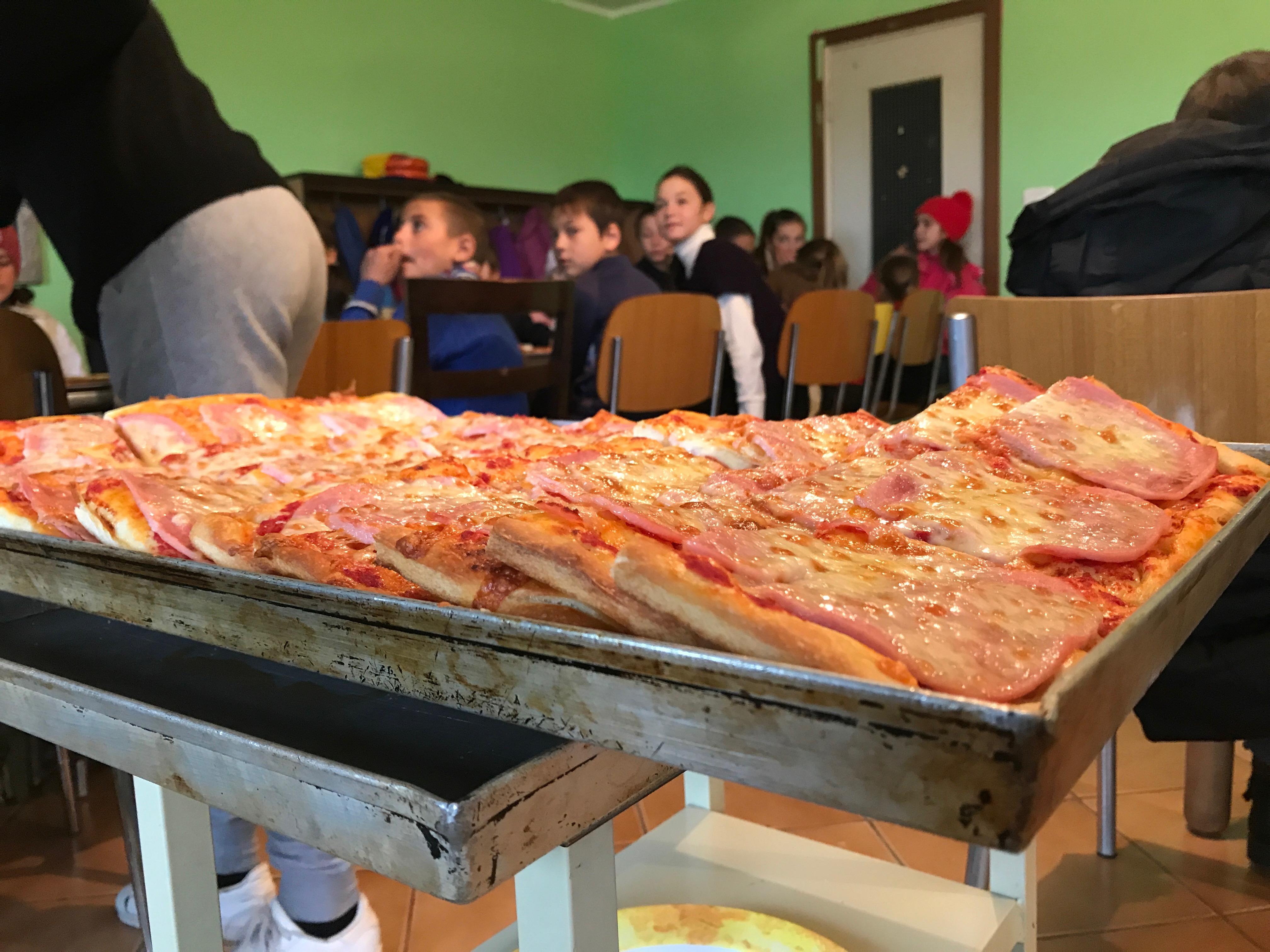 La pizza è pronta