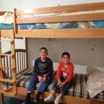 Luigi e Denis felici sul loro letto nuovo
